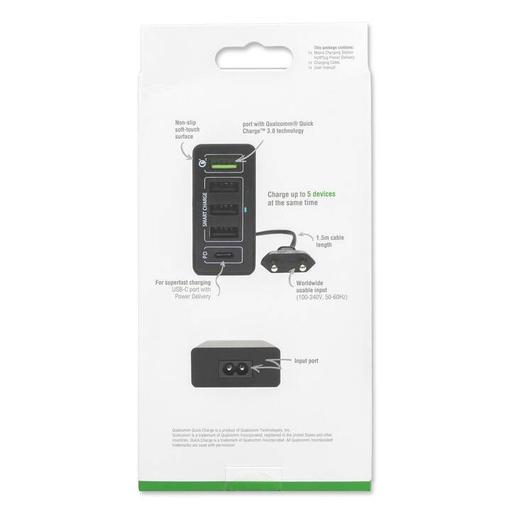 4SMARTS VoltPlug PPS Wandladegerät (2.4 A, 60 W, USB-A, USB-C)