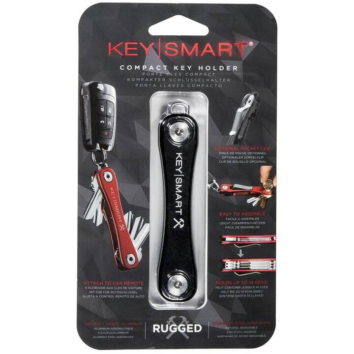 KeySmart Rugged schwarz mit Clip & Bottl