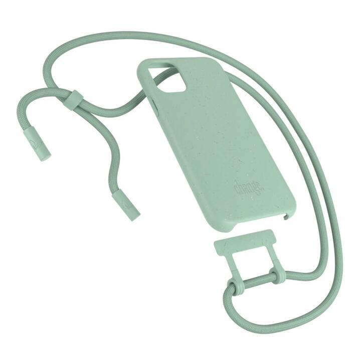 WOODCESSORIES Backcover avec cordon Change Case (iPhone 11, Antibactérien, Vert)