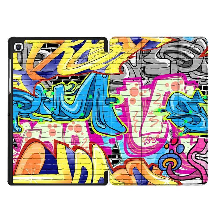 """EG MTT Custodia per Samsung Galaxy Tab S5e 10.5"""" 2019 - graffiti"""