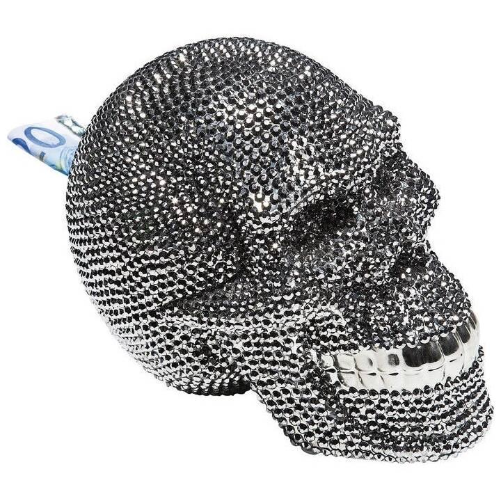 KARE Skull Tirelire (Argent)