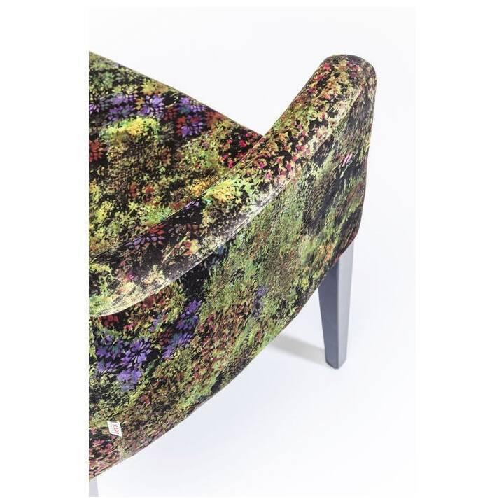 KARE Polsterstuhl Black Mode Green Dschungel (Buche, Polyester)