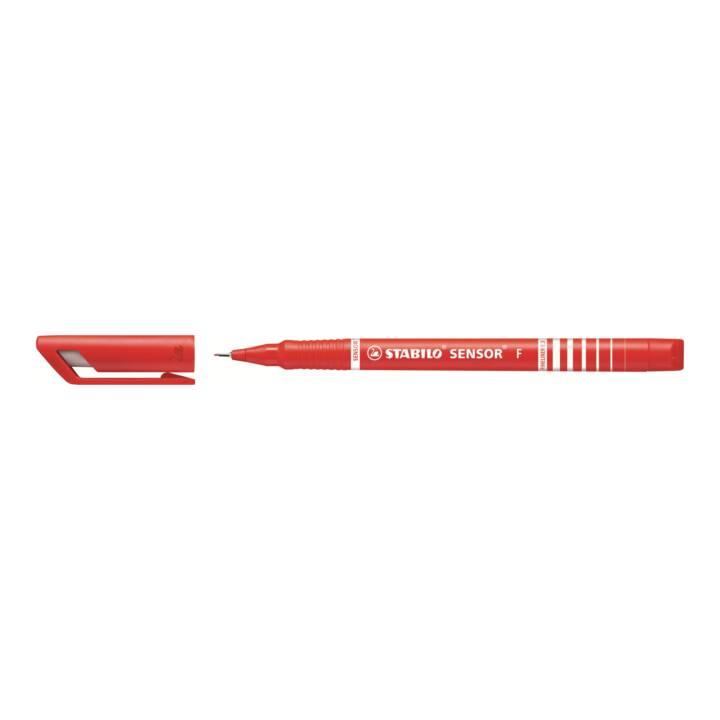 STABILO détecteur de stylo fin 0,3mm (F) rouge