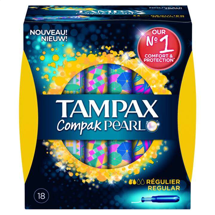 TAMPAX Compak Pearl Assorbente interno (18 pezzo, Normal)