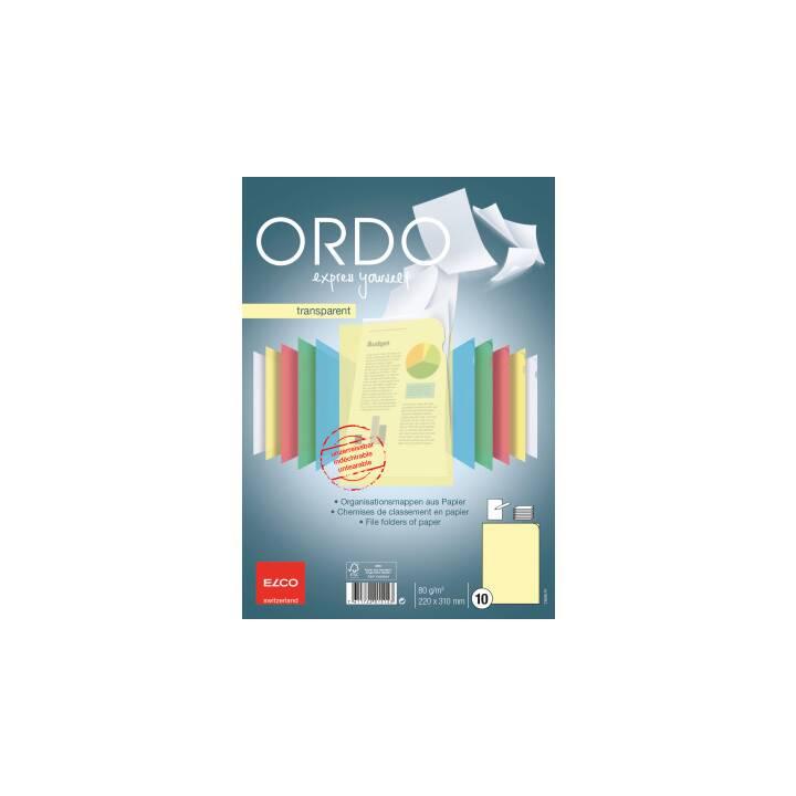Copertina trasparente ELCO Ordo trasparente A4 giallo 10 pezzi