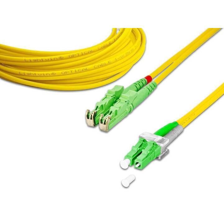 LIGHTWIN Patch-Kabel (LC Single-Modus, E-2000 (APC), 6 m)