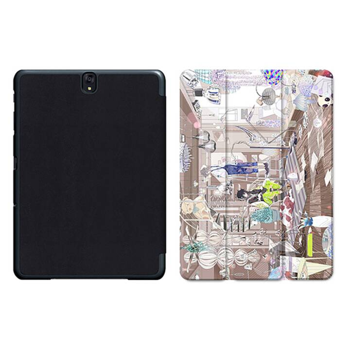 "EG MTT Tablet Bag con coperchio pieghevole Smart per Samsung Galaxy Tab S3 9.7"" MTT - Comics"