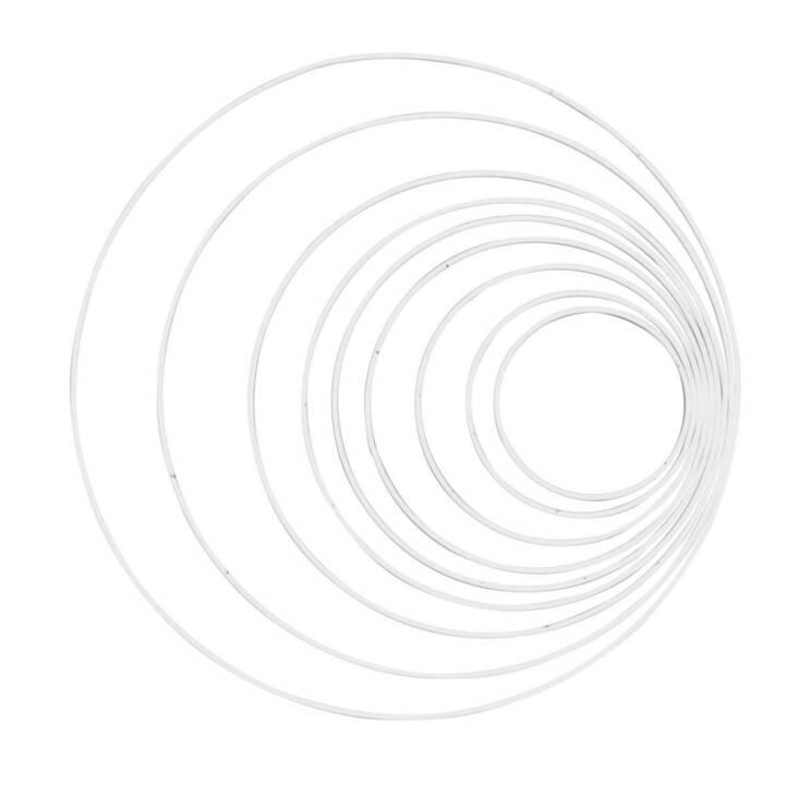 Glorex Metallring weiss 25 cm, 1 Stück