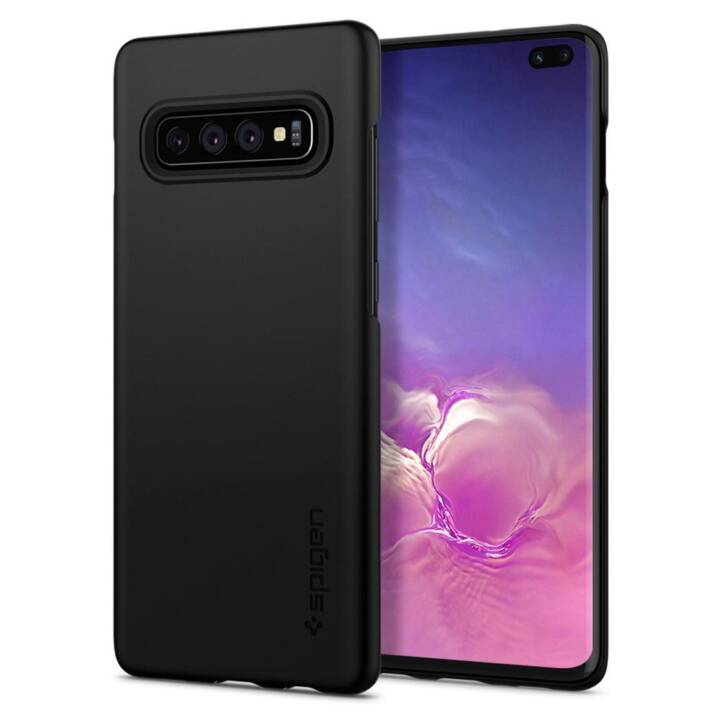 SPIGEN Backcover (Galaxy S10+, Nero)