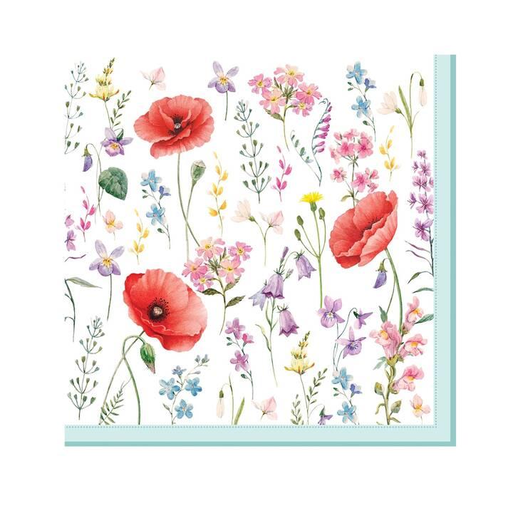 EASY LIFE Serviette en papier Les Coquelicots (33 cm x 33 cm, 20 pièce, Fleurs)