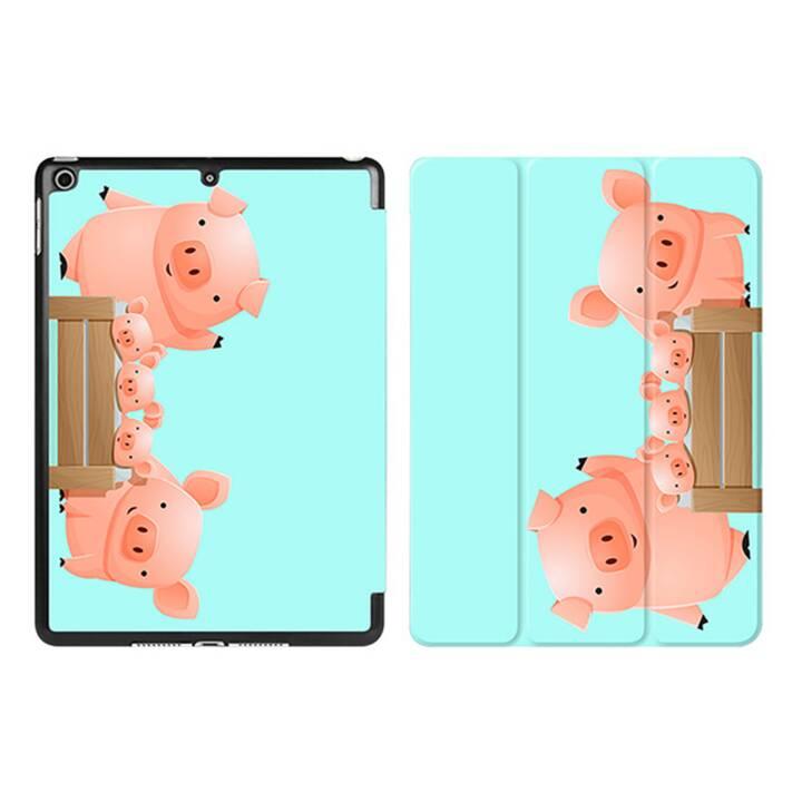 """EG iPad Sleeve pour Apple iPad 9.7"""" 9.7"""" 9.7"""" - Tiffany Blue Cartoon Pigs"""