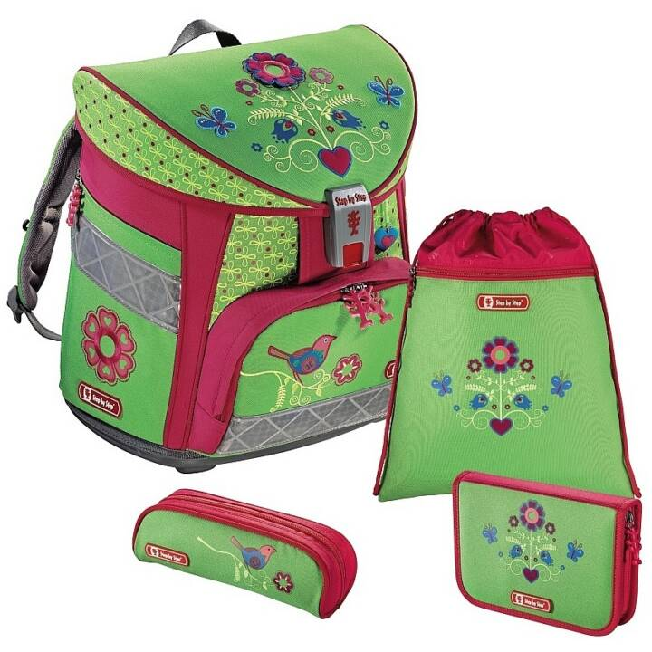 STEP BY STEP Schulrucksack-Set Light Country Flower