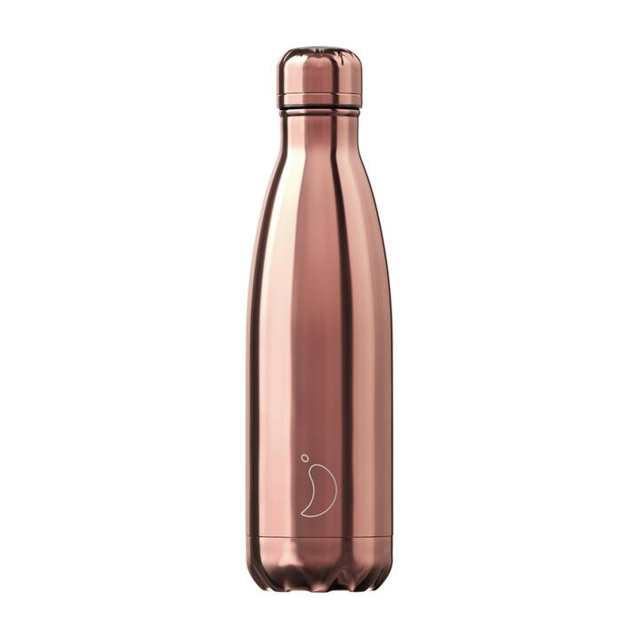 CHILLY'S Thermo Trinkflasche Chrome (500 ml, Roségold)