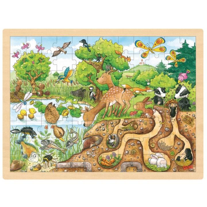 GOKI esperienza natura intarsio puzzle di natura