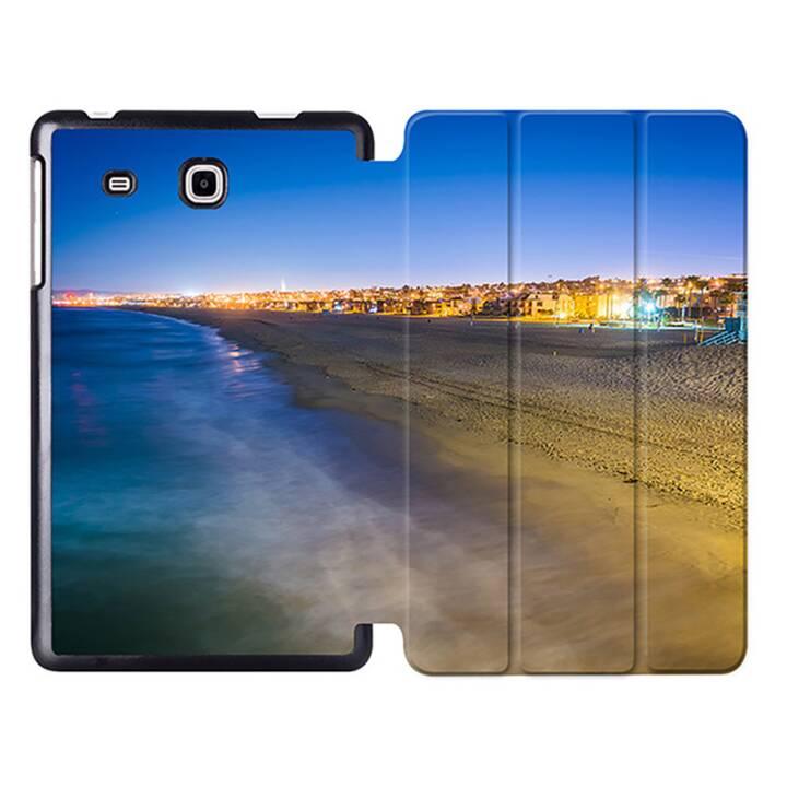 """EG MTT Tablet Tasche mit Smart faltbare Abdeckung für Samsung Galaxy Tab A A6 7 """"- Strand"""