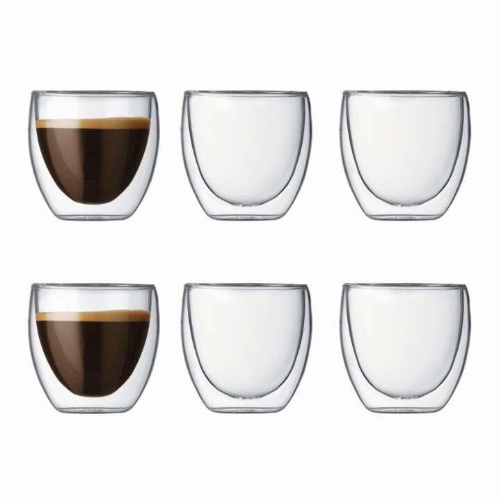 BODUM Verre pour espresso Pavina (0.08 l, 6 Pièce)