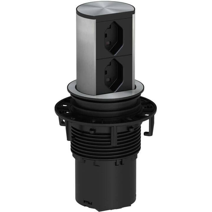 BACHMANN Rallonge électrique (T23 / T23, 2 m, Noir)