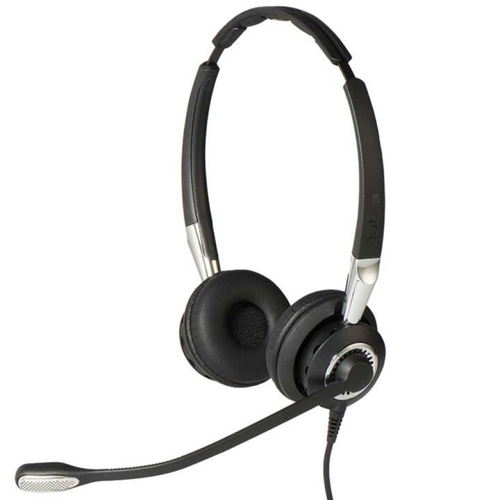 JABRA BIZ 2400 II QD Duo UNC (On-Ear, Nero)