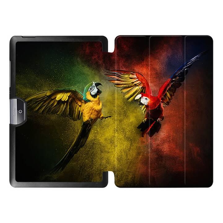 """EG MTT Tablet Tasche mit faltbarer Abdeckung für Acer Iconia Tab 10 10.1 """"- Papageien"""