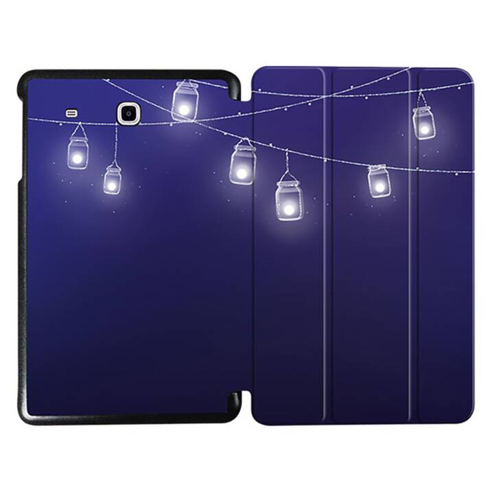 """EG MTT Tablet Tasche mit faltbarer Abdeckung für Samsung Galaxy Tab E 9.6 """"- Light Chain"""