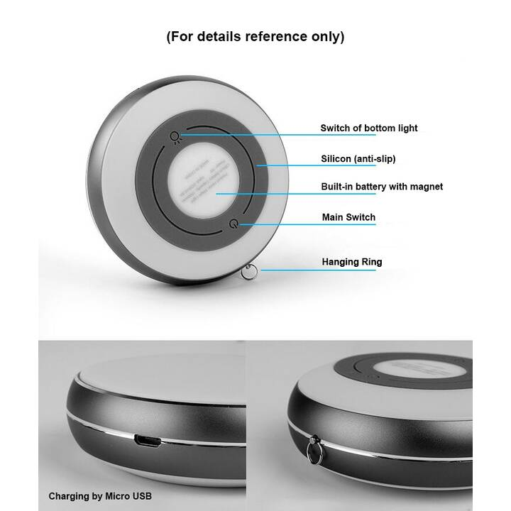 EG MTT Veilleuse LED USB portable dia.9 x 3.2cm - Violet