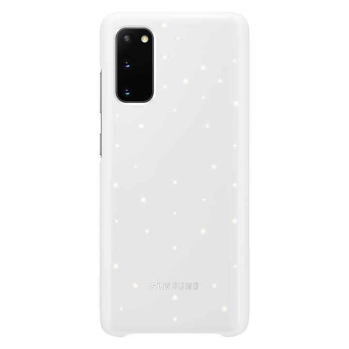 SAMSUNG Backcover H-Cover LED (Galaxy S20, Bianco)