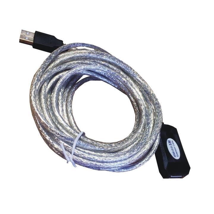 MHE USB-Kabel (USB 2.0 Typ-A, USB 2.0 Typ-A, 5 m)