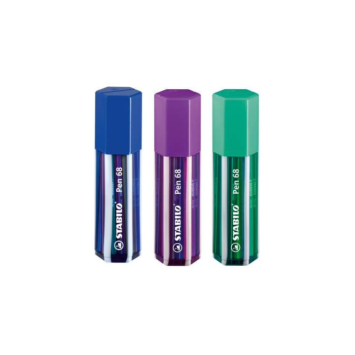 STABILO Stylo fibre 68 1mm 20 couleurs Grand Stylo