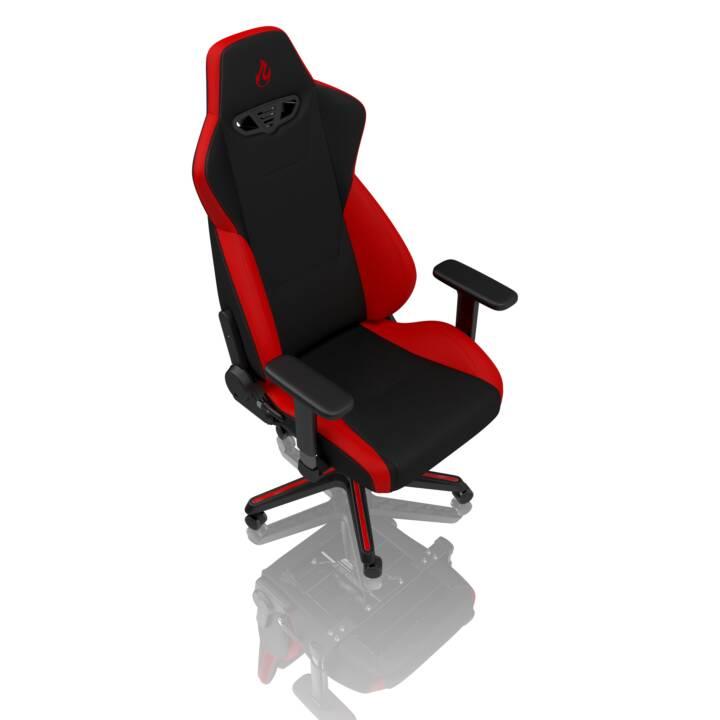 NITRO CONCEPTS Gaming Stuhl S300 (Schwarz, Rot)
