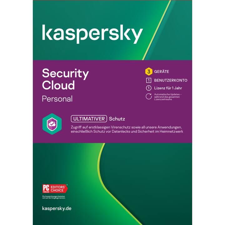 KASPERSKY LAB Security Cloud Personal (Abo, 3x, 1 Jahr, Französisch)