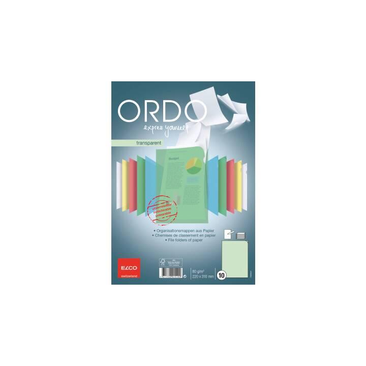 ELCO Sichthülle Ordo transparent A4 grün 10 Stück