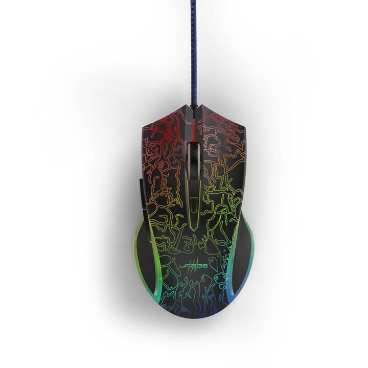 URAGE Reaper 220 Illuminated Souris (Câble, Gaming)