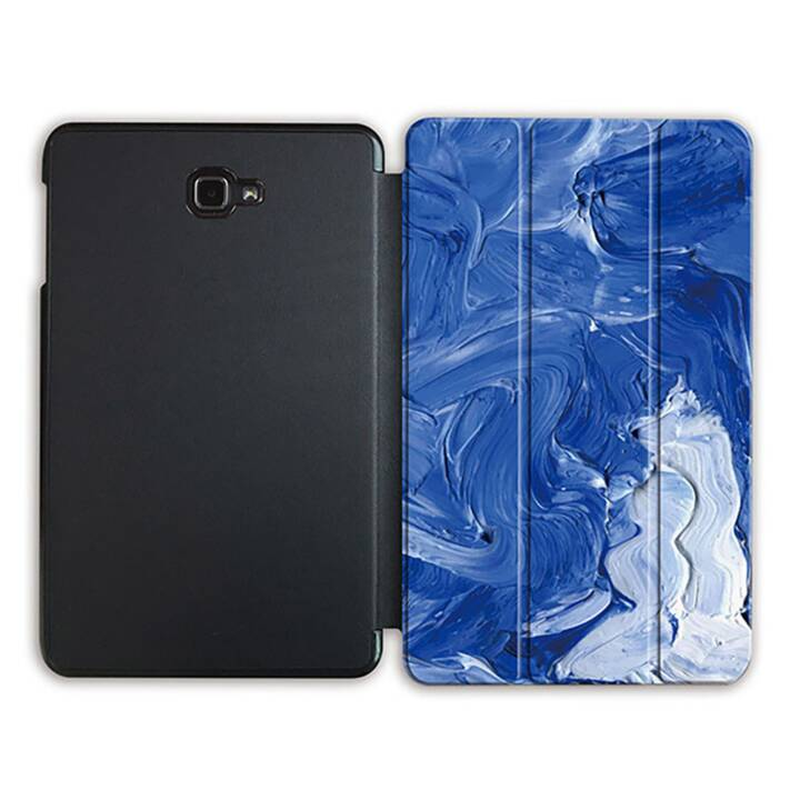 "EG MTT Tablet Bag con coperchio pieghevole Smart per Samsung Galaxy Tab A 10.1"" (2016) - tela di canapa blu"