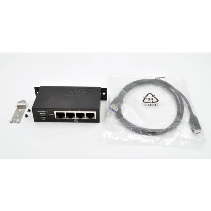 Adattatore EXSYS EX-1330M USB-C 4x RJ45