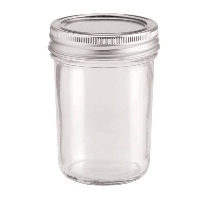 Glorex Glas mit Deckel Lili Rose 200 ml,
