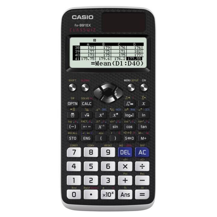 CASIO FX-991EX Wissenschaftliche Rechner (Standard Batteriebetrieb, Solarzellen)