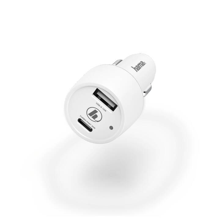 HAMA Chargeur auto 00183322 (USB de type C, USB de type A)