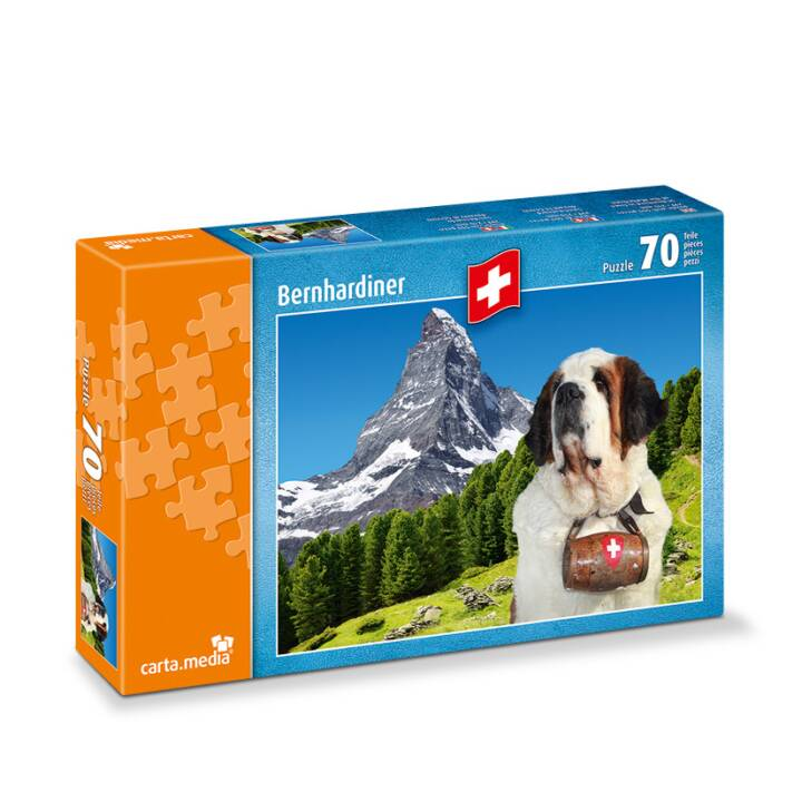 CARTA.MEDIA Bernhardiner vor Matterhorn Puzzle