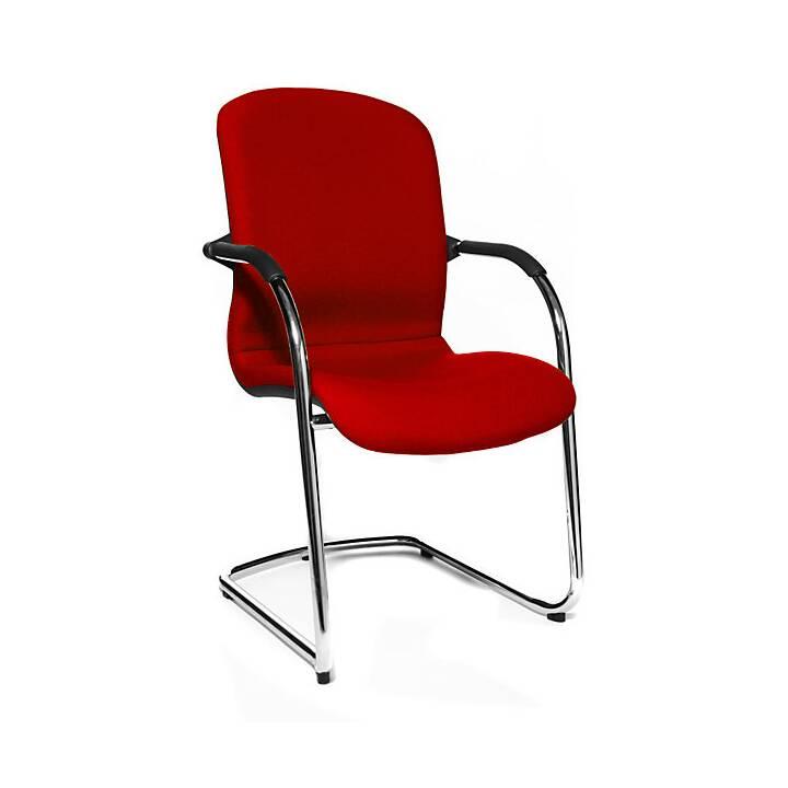 Open Chair Chaise de conférence (Rouge, Chrome)