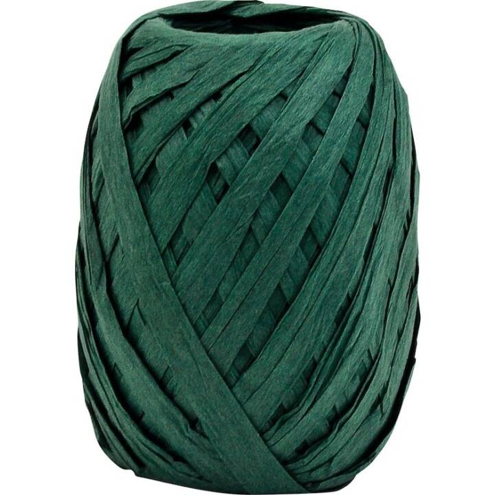 GOLDINA Bast Paper Raffia 70 mm x 30 m, Dark Green