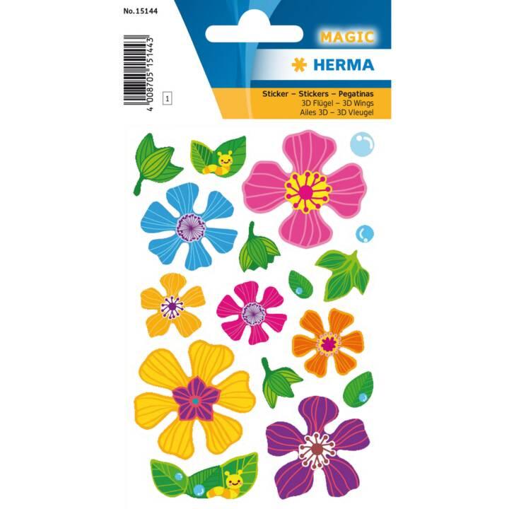 HERMA Sticker Flowers, 3D-Flügel
