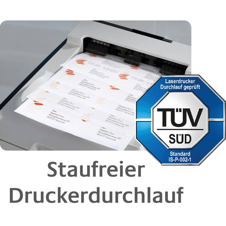 AVERY ZWECKFORM 3664 ultragrip Etichette (A4, 70 x 33.8 mm, 100 foglio)