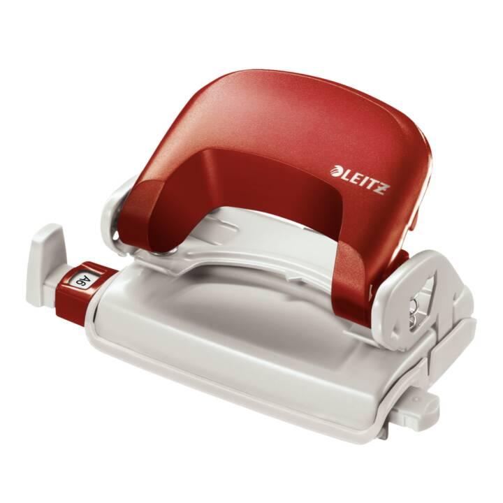 LEITZ 50580025 Poinçon 10 feuilles trou rouge