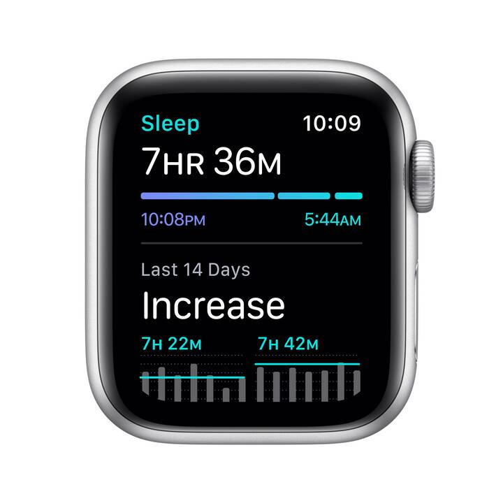 APPLE Watch Nike Series 6 GPS (44 mm, Alluminio, Silicone)