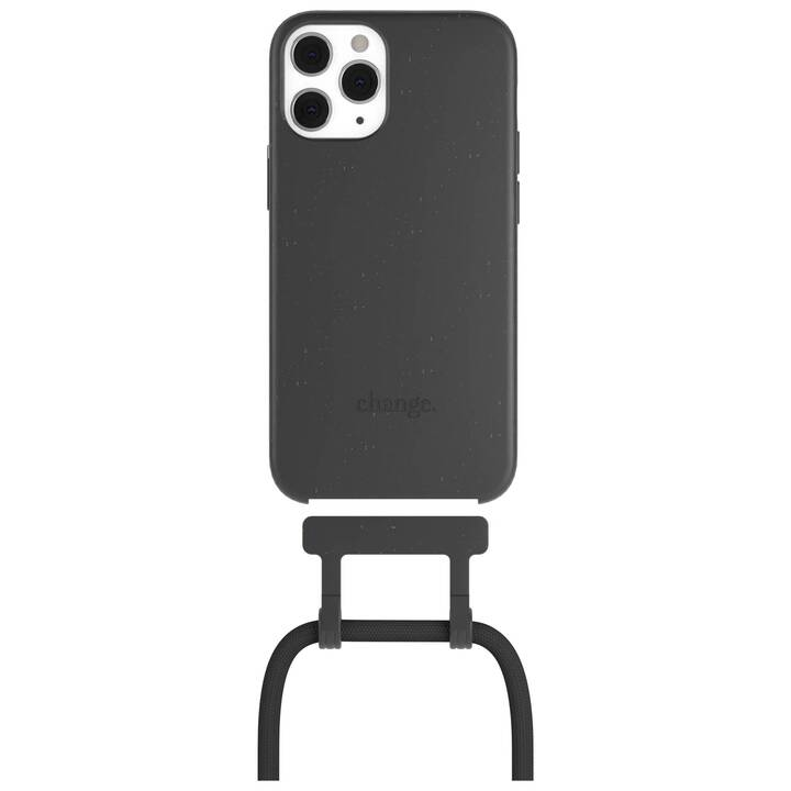 WOODCESSORIES Backcover Change Case (iPhone 12, iPhone 12 Pro, Nero)