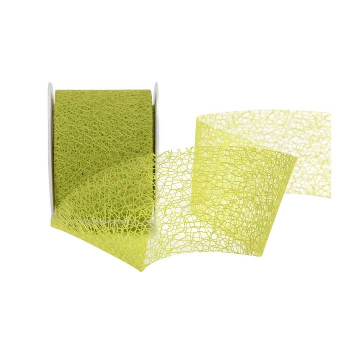 SPYK Geschenkband Easy (7 cm x 10 m, Hellgrün, Einfarbig)