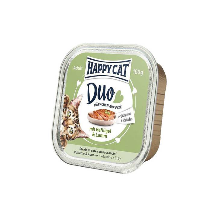HAPPYCAT Duo (Adulto, 100 g, Pollame, Agnello)