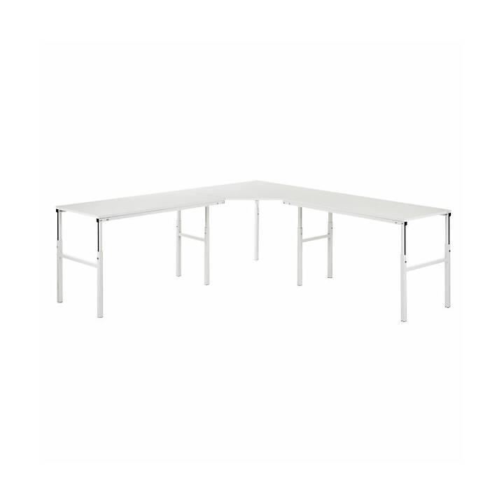 TRESTON Schreibtisch (Grau, 110 cm x 110 cm x 90 cm)