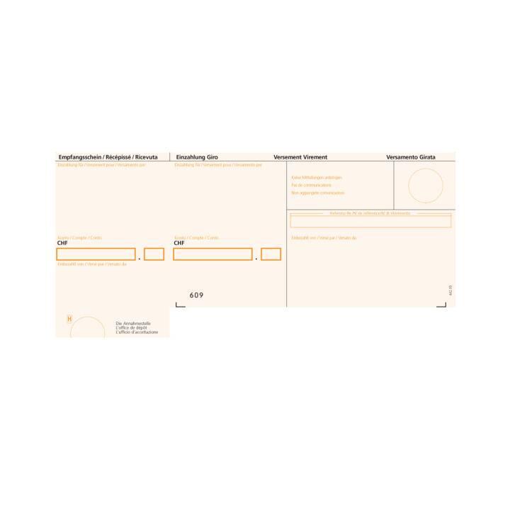 BÜROLINE Polizza di pagamento ESR A4 arancione, 90g 500 pezzi