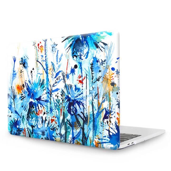 """EG MTT Copertina per computer portatile con tastiera, protezione antipolvere, penna a sfera per MacBook Pro 13"""" CD ROM - Blue Flowers"""